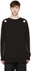 Damir Doma Black Cut Out Syliam Pullover