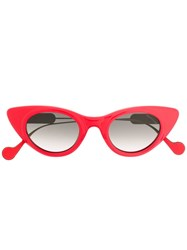 Moncler Eyewear Cat Eye Sunglasses Red