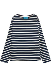 Mih Jeans M.I.H Mariniere Striped Cotton Jersey Top Navy