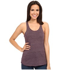 Alternative Apparel Meegs Racer Tank Eco True Eggplant Women's Sleeveless Brown