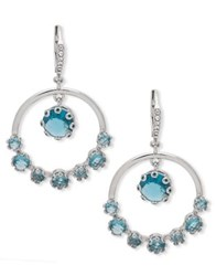 Jenny Packham Sapphire Faceted Drop Earrings Blue