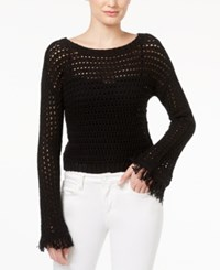 American Rag Cropped Bell Sleeve Sweater Only At Macy's Classic Black