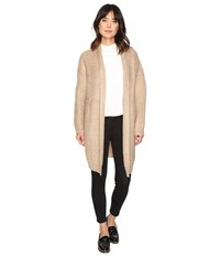 Brigitte Bailey Dagny Cardigan Taupe Women's Sweater