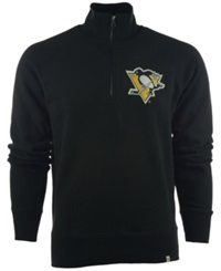 '47 Brand Men's Pittsburgh Penguins Cross Check Quarter Zip Pullover Black