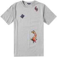 Lanvin Embroidered Koi Tee Grey
