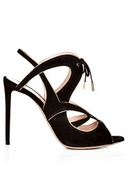 Nicholas Kirkwood Eclipse Lace Up Sandals Black