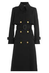 Alexander Mcqueen Wool Trench Coat Black