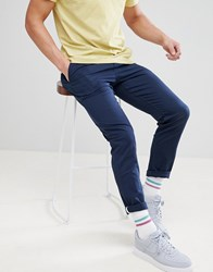 Your Turn Yourturn Relaxed Chino In Skater Fit In Blue Majolica Blue