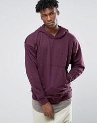 Other Uk Oversized Hoodie With Raw Edges Purple
