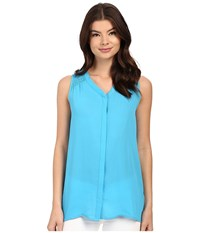 Christin Michaels Martinique Top Ocean Blue Women's Clothing