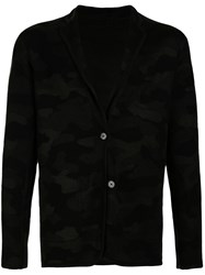 Loveless Camouflage Relaxed Fit Blazer Black