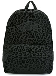Vans Leopard Print Backpack Black