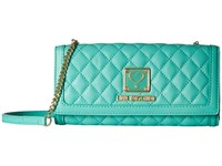 Love Moschino Quilted Wallet Bag Green Wallet Handbags