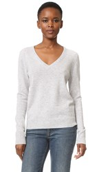 Equipment Cecile V Neck Sweater Light Heather Grey