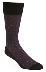 Men's John W. Nordstrom Cube Socks Black Purple