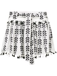 Dodo Bar Or Ariana Ethnic Embroidered Skirt Black