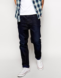 Asos Tapered Jeans With Dark Rinse Blue