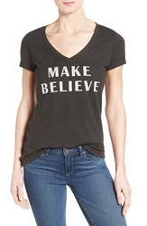 Women's Signorelli 'Make Believe' V Neck Graphic Tee