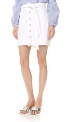 7 For All Mankind A Line Skirt Luxe Lounge White