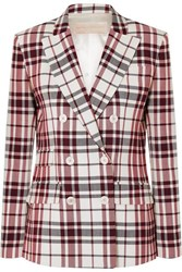 Antonio Berardi Checked Wool And Mohair Blend Blazer Red