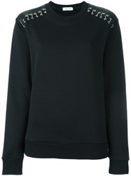Thierry Mugler Studded Shoulder Sweatshirt Black
