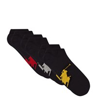 Ralph Lauren Logo Sneaker Socks Pack Of 3 Black