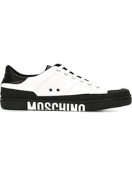 Moschino Logo Low Top Sneakers White