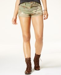 American Rag Juniors' Camo Print Twill Cargo Shorts Only At Macy's