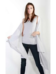 Johnstons Of Elgin Cashmere Gauzy Waterfall Wrap White