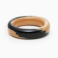 Tiffany And Co. Elsa Peretti Bangle In Black Ivory Lacquer Over Japanese Hardwood Small.