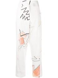 Each X Other Austyn High Waisted Trousers White
