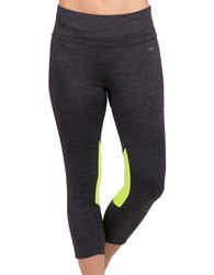 Jockey Contrast Capri Leggings Iron Grey