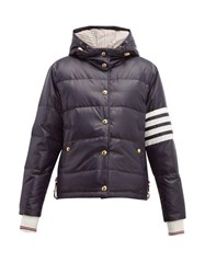 Thom Browne 4 Bar Quilted Down Bomber Jacket Navy