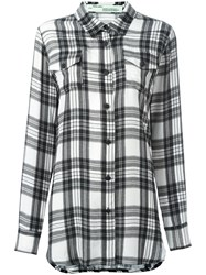 Off White Plaid Shirt Black