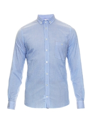 Richard James Bengal Striped Cotton Blend Shirt