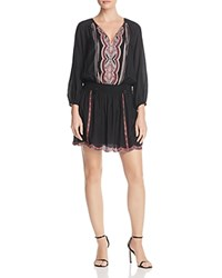 Ella Moss Santorini Embroidered Dress Black