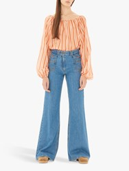 Gerard Darel Wide Leg Jeans Blue