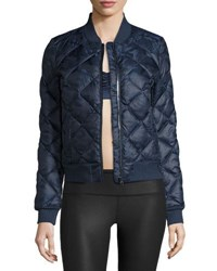 Alo Yoga Idol Camo Quilted Active Bomber Jacket Navy