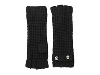 Michael Michael Kors Fingerless Glove Black Extreme Cold Weather Gloves