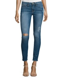 Frame Denim Le Skinny De Jeanne Distressed Ankle Jeans Jewell