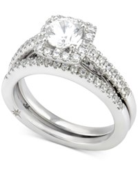 Marchesa Certified Diamond Bridal Set 1 1 4 Ct. T.W. In 18K White Gold
