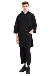 Homme Plissaƒa Issey Miyake Flags Hooded Poncho Black