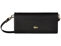 Lacoste Chantaco Snap Wallet Crossbody Black Cross Body Handbags