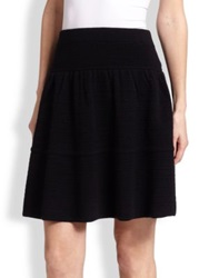 Saks Fifth Avenue Cashmere Ottoman Skirt Black
