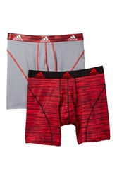 Adidas Sport Performance Boxer Brief Pack Of 2 Red