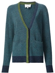 3.1 Phillip Lim Colour Block Cardigan Blue