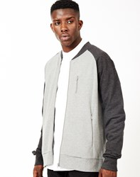 The Idle Man Baseball Jacket Grey