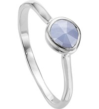 Monica Vinader Siren Sterling Silver And Blue Lace Agate Small Stacking Ring