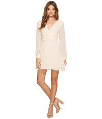 Keepsake Come Around Long Sleeve Mini Dress Shell Women's Dress Beige
