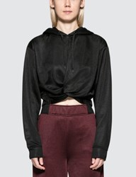 Alexander Wang Sleek French Terry Twistfront Hoodie